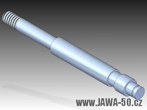 3D model atypického čepu řadící páky Jawa 50