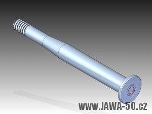3D model čepu řadící páky Jawa 50 (1972 - 1979)