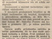 Svět motorů 13/1957 (strana 414) - Pionier s tachometrom