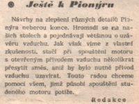 Svět Motorů 3/1958 (strana 90) - Ještě k Pionýru
