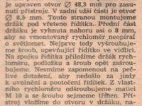 Svět Motorů 5/1960 (strana 156) - Montáž rychloměru na moped Stadion