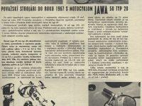 Svět Motorů 6/1967 Považskí strojári do roku 1967 s motocyklom Jawa 50 typ 20