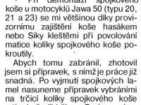 Udělej si sám 86/1993 (strana 53) - Demontáž spojkového koše Jawa 50