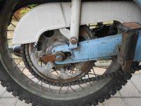 Jawa 21 Sport z roku 1967 v původním stavu - řetězové kolo (rozeta) s krytem