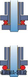 Motocyklový válečkový řetěz utěsněný o-kroužky (o-ring) nebo x-kroužky (x-ring)