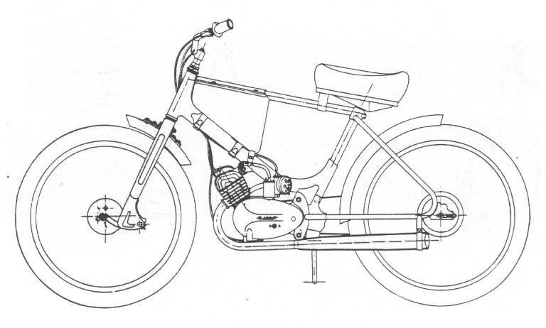 Plochodrážní speciál - moped Stadion S26