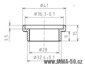 Redukce misky řízení Simson pro Jawa 50 Pionýr