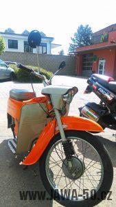 Motocykl Jawa 220.100 Pionýr z roku 1978 v originálním stavu