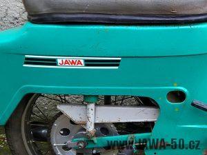 Jawa 50 typ 21 Sport (Pionýr) z roku 1976 - nálepka na zadním blatníku