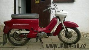 Jawa 50 typ 221 Sport (Pionýr) z roku 1977, jeden s posledních vyrobených kusů