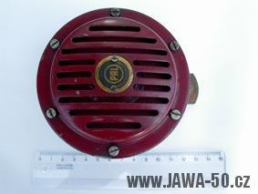 Motocykl Jawa 550 Pionýr (pařez) - 9V houkačka (klakson), první varianta