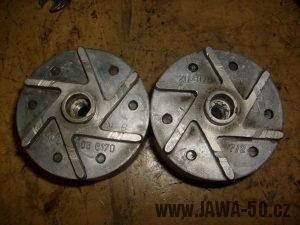 Jawa 20 - porovnání rotorů zapalování 20W (05-6170) vs 30W (20-6170)