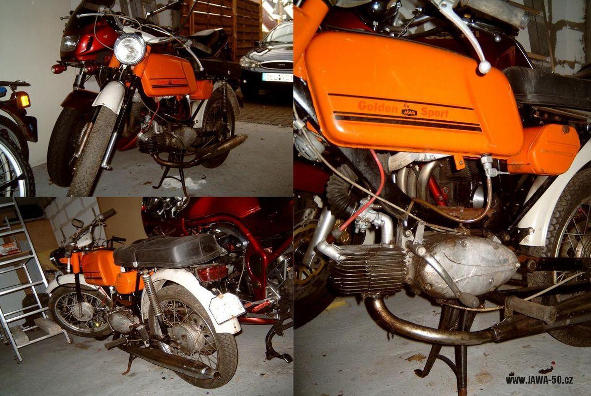 Jawa 23 Golden Sport 4. generace - vývoz do NSR (1974)