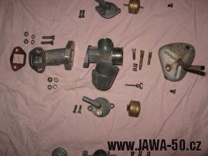 Jawa 23 Golden Sport 3. generace - rozborka karburátoru Jikov 2917PSb