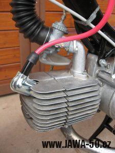 Jawa 23 Golden Sport 3. generace - odrušená oplechovaná fajfka (botka) svíčky