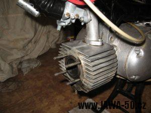 Jawa 23 Golden Sport 3. generace, mokik se sníženým výkonem - válec motoru + karburátor Jikov 2915