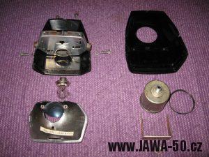 Jawa 23 Golden Sport 3. generace - přední světlomet Puch - rozborka