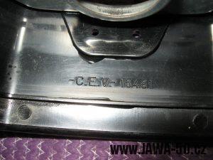Jawa 23 Golden Sport 3. generace - přední světlomet Puch - značení
