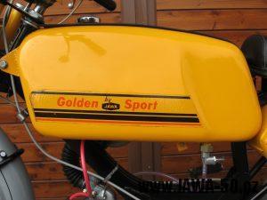 Jawa 23 Golden Sport 3. generace - nádrž zleva