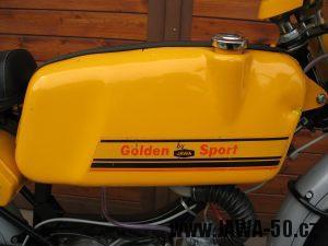 Jawa 23 Golden Sport 3. generace - nádrž zprava