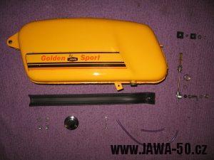 Jawa 23 Golden Sport 3. generace - nádrž a věci okolo