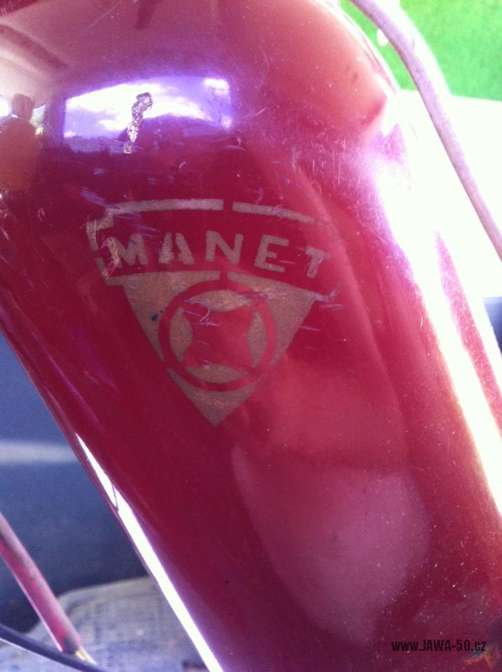 Zajímavý motocykl Manet 550 Pionýr (Jawa) z roku 1957